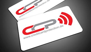 """Eine Abbildung der weißen """"Credit Card Protection"""" Karte"""